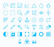 Photography vector icons Stock Photography