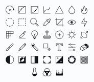 Photography vector icons Royalty Free Stock Images