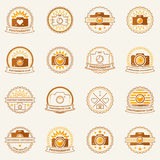 Photography vector labels and badges Royalty Free Stock Photography