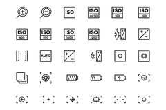 Photography Vector Line Icons 3. Snap away with this beautiful Photography Icon Set! With these new photography icons, you'll have the perfect icon for your Royalty Free Stock Photo