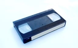 Video cassette. Photography of video cassette isolated on white background royalty free stock images