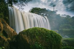 Photography of Waterfalls Surrounded by Trees Royalty Free Stock Photos