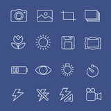 Photography white  icons Stock Photography