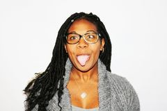 Photography of Woman Showing Her Tongue Stock Image