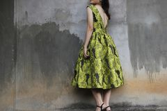 Photography of a Woman Wearing Green Dress Stock Image