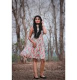 Photography of a Woman Wearing Pink And White Dress Royalty Free Stock Images