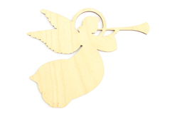 Photography of wooden angel on white background Stock Photos