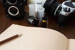 Photography workspace Stock Image