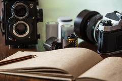 Photography workspace Royalty Free Stock Images