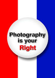Photography is your right. Royalty Free Stock Photography