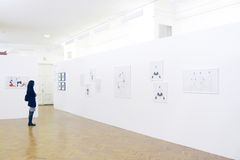 Photogrpahy exhibition of Vladimir Glynin Stock Photos