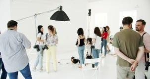 Photogrphy no estúdio largo vídeos de arquivo