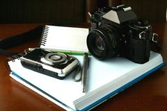 Photojournalist's gear Royalty Free Stock Photography
