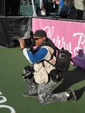 Photojournalist at Work Royalty Free Stock Images