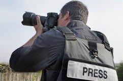 photojournalistprofessionell Royaltyfria Foton