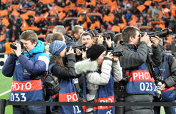 Photojournalists during the match Stock Photos