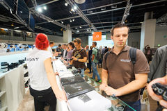 Photokina Exhibition interior Royalty Free Stock Photos