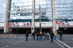 Photokina fair , Koln. KOLN - SEPTEMBER 25: photokina is one of the most important fair for video and photo industry, it takes place every two years in koln, 25 Stock Photo
