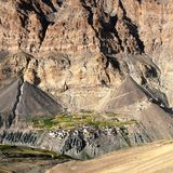 Photoksar village - Zanskar trek - Ladakh Stock Photos