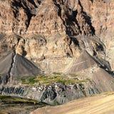 Photoksar village - Zanskar trek - Ladakh Stock Photos