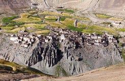 Photoksar wioska Ladakh, India - - Zanskar wędrówka - zdjęcia royalty free