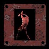 Photomontage rouge vue de femme de peau Image libre de droits
