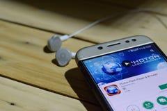 Photon Flash Player & Browser dev application on Smartphone screen. BEKASI, WEST JAVA, INDONESIA. JULY 06, 2018 : Photon Flash Player & Browser dev application stock photos
