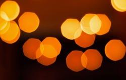 Photophone met vage oranje lichten, lege ruimte voor tekst Stock Fotografie