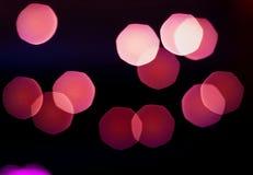 Photophone met vage ultraviolette lichten, lege ruimte voor tekst Royalty-vrije Stock Afbeelding