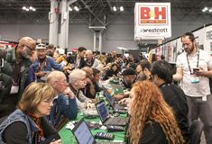 The 2017 PhotoPlus Expo. Is an annual event for Professional and amateur photographers` held at The Javits convention Center in NY Stock Photo