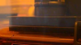 Photopolymer da impressora da cópia 3D video estoque