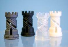 Photopolymer för fyra objekt som skrivs ut på en skrivare 3d Royaltyfria Bilder