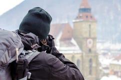 Photorapher-Tourist Lizenzfreie Stockfotografie