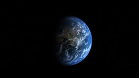 Photoreal Earth - Asia. Photoreal CG image of Earth from space viewing down at Asia Royalty Free Stock Photo