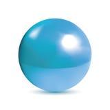 Photorealistic λαμπρός μπλε σφαίρα Στοκ Εικόνες