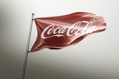Photorealistic κύριο άρθρο σημαιών κόκα κόλα ελεύθερη απεικόνιση δικαιώματος