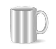 Photorealistic белая чашка Стоковое Изображение