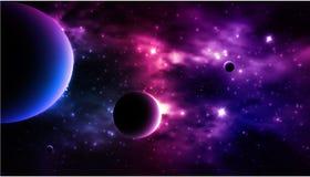 Photorealistic предпосылка галактики вектор Стоковая Фотография RF