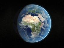 Photorealistic aarde. Stock Afbeelding