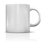 Photorealistic blank white cup with reflection Royalty Free Stock Photos