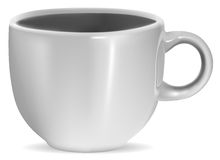 Photorealistic blank white cup with reflection Stock Images