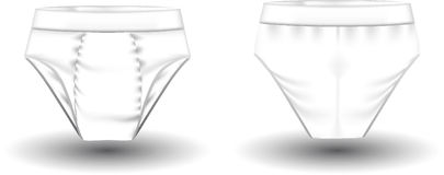Photorealistic briefs. 2 sides. Vector illustration Royalty Free Stock Photos