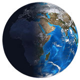 Photorealistic Earth. Day and night Royalty Free Stock Images
