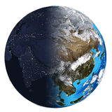 Photorealistic Earth. Day and night Stock Photo