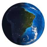 Photorealistic Earth. Day and night Royalty Free Stock Photo