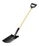 Photorealistic fiberglass shovel Royalty Free Stock Photo