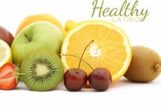 Photorealistic fresh fruit background Stock Image