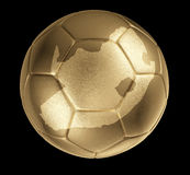 Photorealistic golden ball (shape of South Africa). Photorealistic leather golden soccer ball with shape of South Africa Royalty Free Stock Photo