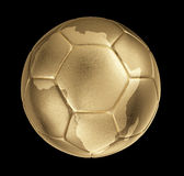 Photorealistic golden soccer with shape of Africa