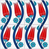 Photorealistic Illustration einer nahtlosen türkischen Fliese. Lizenzfreies Stockfoto